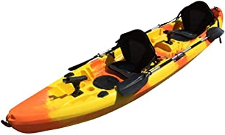 Cambridge Kayaks ES, Sun Fish TÁNDEM SÓLO 2 + 1 Naranja Y Amarillo, RIGIDO