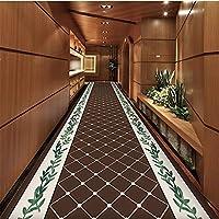 MDCG エントランス 玄関マット カーペット 寝室 カスタムメイド 通路 カットできます ホーム 廊下 階段 滑り止めパッド (Color : B, Size : 120x500cm)
