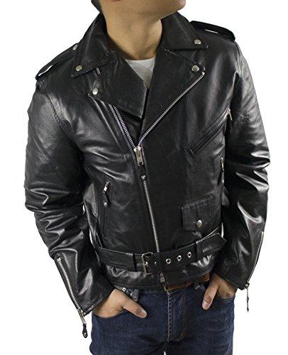 LEDERJACKE Brando Men - Echt Herren Biker Rocker (XS)