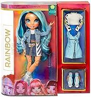 Lalka modowa Rainbow High - Skyler Bradshaw - Niebieska lalka z wyjatkowymi strojami, akcesoriami i stojakiem na lalke -...
