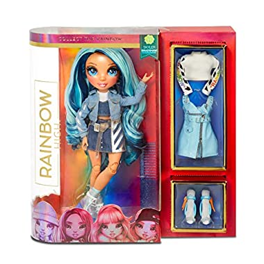 Rainbow High Rainbow Surprise Skyler Bradshaw – Blue Clothes Fashion Doll with 2 Complete Mix & Match Outfits and…
