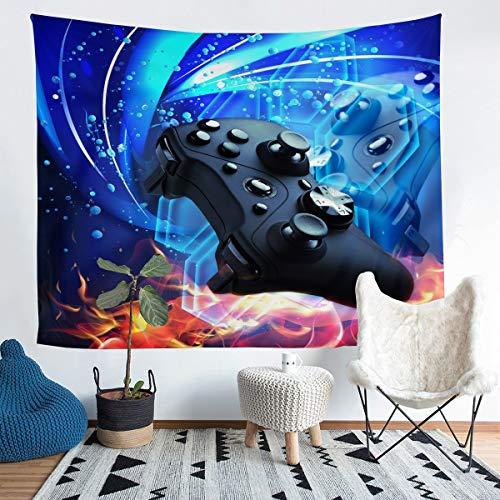 Loussiesd Gamepad Tapiz para niñas y niños, para colgar en la pared, videojuegos, manta de pared para controlar el juego moderno, decoración de la habitación, manta de cama grande, 122 x 189