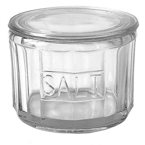 Creative Co-op DA3024 Salt Glass  4.5 L x 4.5 W x 3.5 H  Clear