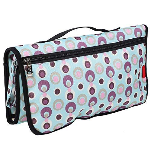 Bolsa de almacenamiento de almohadilla impermeable, almohadilla de cama impermeable, para niños, adultos y mascotas para automóvil, tienda, cama, cochecito para la comodidad del(Macaron Blue)