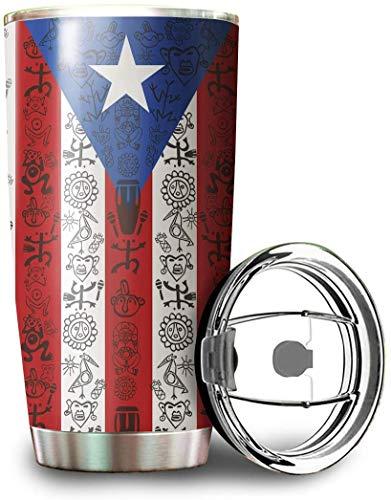 Puerto Rico Flag Personalized Symbols Custom Mug White Coffee Mug Tumbler Coffee Mug Tea Cup White Tumbler Cup 30oz