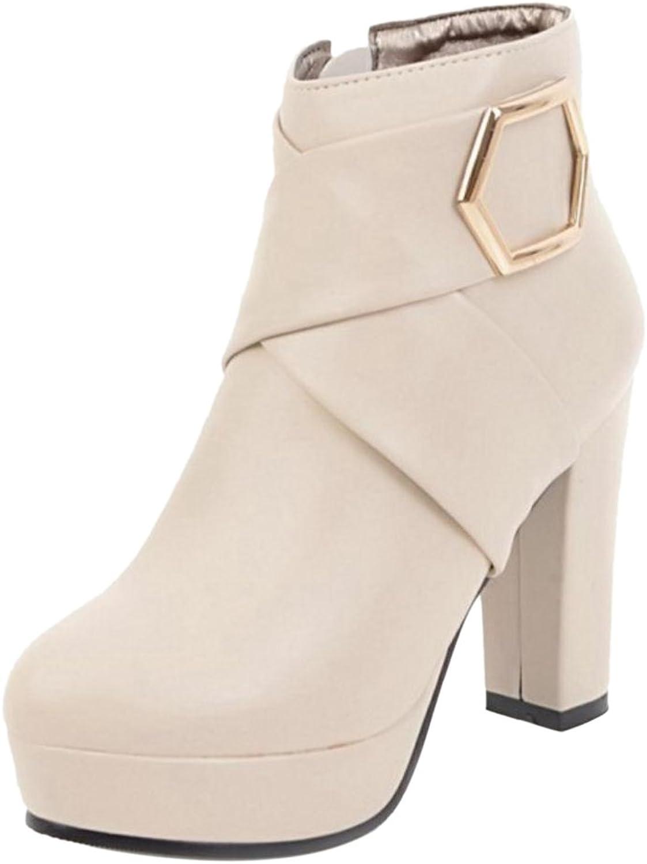 KemeKiss Women Fashion Heels Bootie Zipper