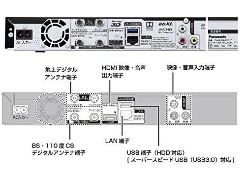 『パナソニック 1TB 2チューナー ブルーレイレコーダー 4Kアップコンバート対応 DIGA DMR-BRW1020』のトップ画像