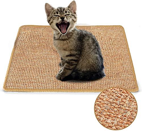 Tappetino tiragraffi per gatti (30 x 40 cm) in Sisal naturale Orizzontale per gatti Grinding Artigli e proteggere mobili