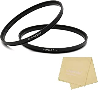 Metal Adapter Ring, 82 to 82mm Filter Ring Adapter, 82-82mm Focusing Rings with Lens Cleaning Cloth, 2 Pieces Lens Filter ...