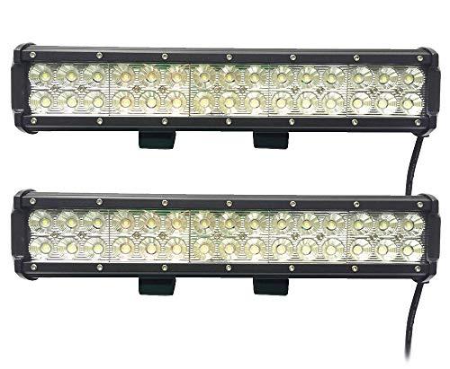 Leetop 2X 90W LED Phare de Travail Noir Feux WorkLight Spot LED Phares de Voiture Tout-terrain Supplémentaires l'éclairage des Travaux tout-Terrain