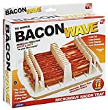 Dishwasher safe Makes bacon healthier Less fat and cholestrol Cooks bacon evenly Separates bacon from unwanted grease