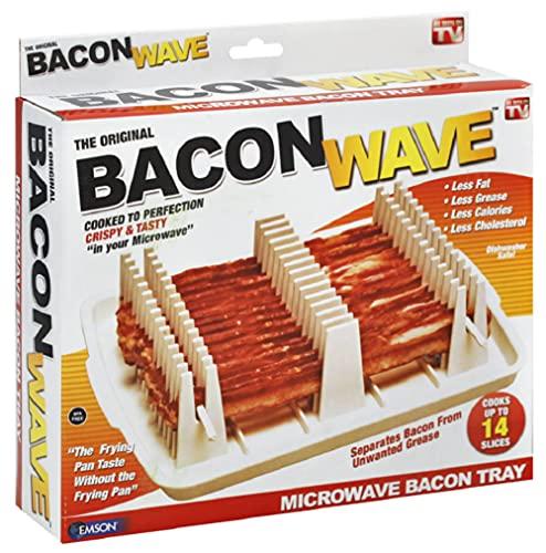 Emson Bacon Wave, Microwave Bacon Cooker, New, 9.96' x 8.03' x 0.37' (Length x Width x Height),...