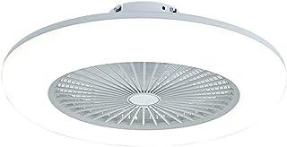 Ventilateur de plafond à LED avec lumières Gradable en continu avec télécommande, 3 vitesses,lumières de plafond modernes ...