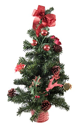 Best Christmas Tree Table Decoration with Red Ornaments