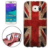 SmartProtectors! Softcase aus TPU/Hülle/Cover/Case/Schutzhülle für Samsung Galaxy S6 Edge G925 Union Jack Flag Flagge Fahne
