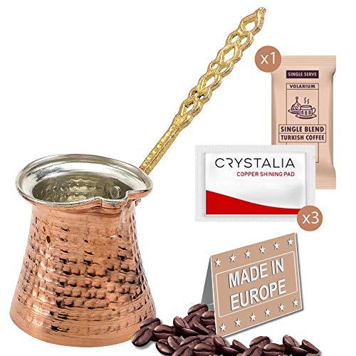 Turkish Coffee Pot, Greek Arabic Coffee Maker, Hammered Copper Coffee Cezve, Small Pot, Stove Top Coffee Maker