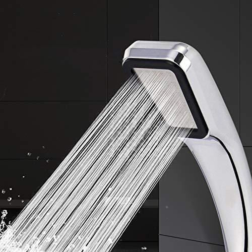 Affordable KONGZIR High Pressure Shower Head Water Saving Boost Powerful 300 Holes Abs Chrome Bathro...