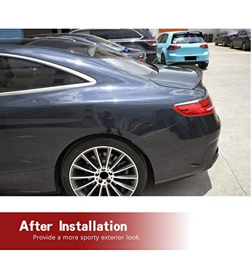 JC SPORTLINE Carbon Fiber Spoiler fits Mercedes Benz S Class C217 S500 S550 S63 S65 AMG Coupe 2014-2018 Tail Wing Rear Trunk Lid Spoiler Wing Compatible Factory Outlet (Carbon Fiber)