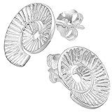 Vinani - Pendientes en espiral con argollas armadas, plata de ley 925, pendientes de caracol 2OSS