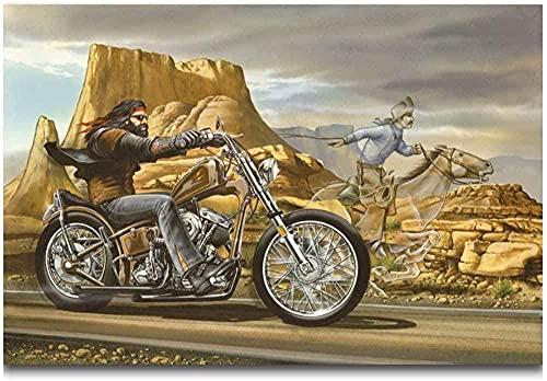 YYTTLL Wooden Jigsaw Puzzle 1000 Pieces Ghost Rider David Mann Cult Bike Hot Classic Wooden Intellectual Toy 50X75Cm