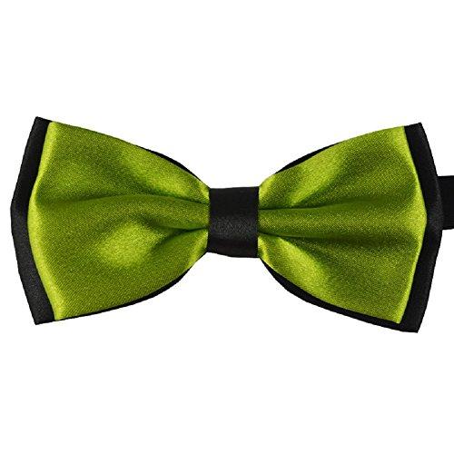 S.R HOME Noeud Papillon double couche vert foncé pour mariage, travail ou tout autre événement