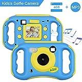 AGM Cámara para Niños, Cámara de Video para Niños con Reproductor de MP3, 1.77' HD Color Pantalla Digital Cámara Memoria incorporada de 4GB para Chicas y Chicos Regalos