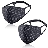 HEPLFIKG Sports Athletic Face Mask, Breathable Washable Reusable for Outdoor Exercise Workout