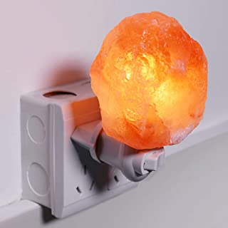 Gotian Rotatable Cylinder Himalayan Salt Lamp, Crystal Rock Bedside Night Light Room, Heating The Salt with The Included 15 Watt Bulb, Perfect for Kids Bedroom, Living Room, Porch, Path, Corridor
