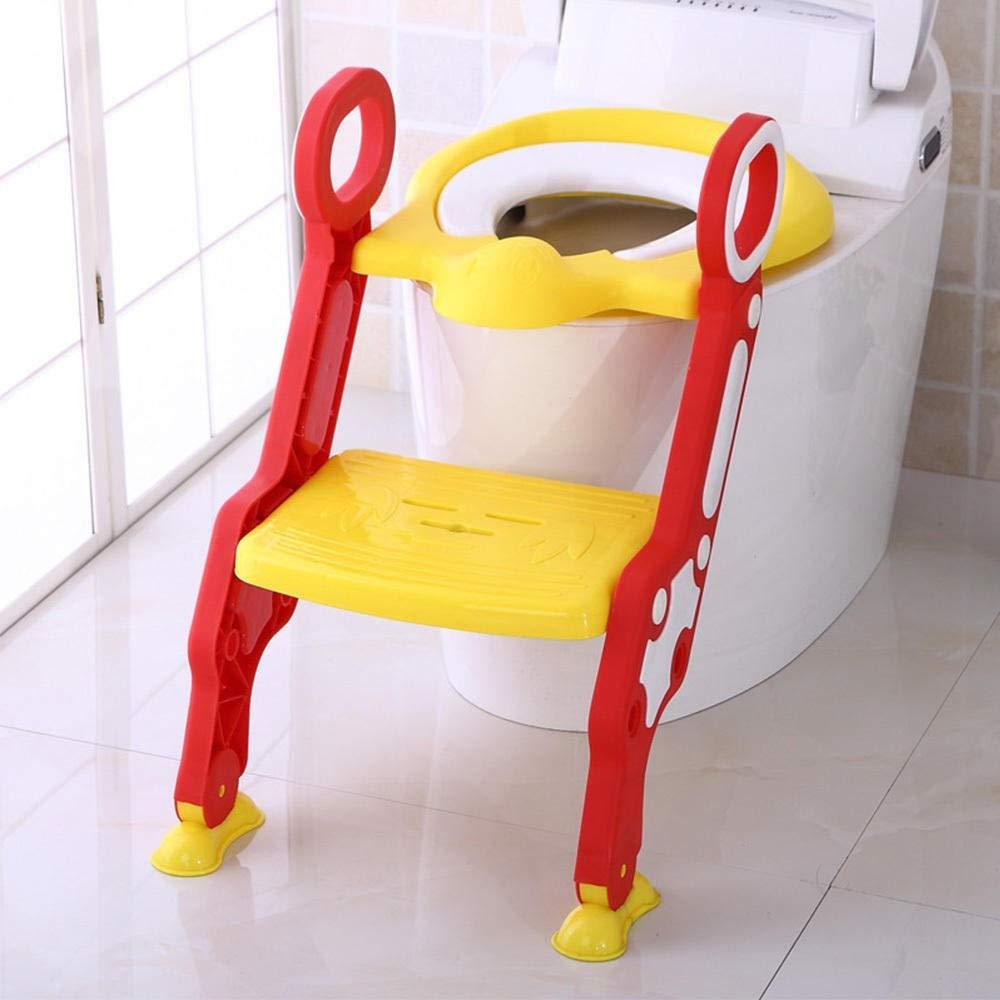 Entrenamiento insignificante del bebé Escalera Ajustable for IR al baño Infantil niños Plegable de for niños Asientos de Inodoro Urinario Trainer Asiento Pot for los niños Zzib (Color : PJ3554A): Amazon.es: Hogar