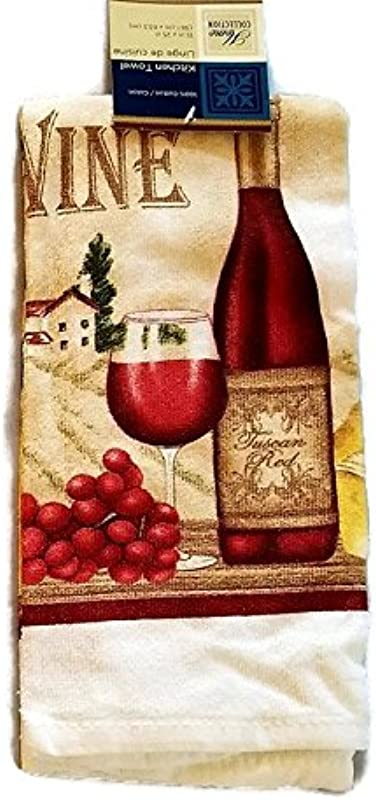 Wine Lovers Kitchen Towels 15 X 25 3 Pack
