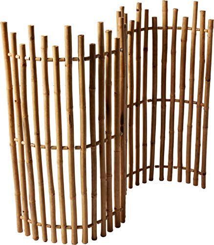 """Master Garden Products NBF-48 MasterGardenProducts Bamboo Picket Rolled Fence, 48"""" H x 60"""" L, Tan"""