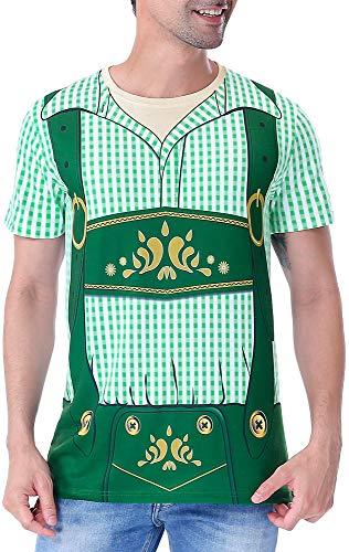 COSAVOROCK Disfraz de Bvaro Alemn Oktoberfest para Hombre Camiseta Lederhose (M, Verde)