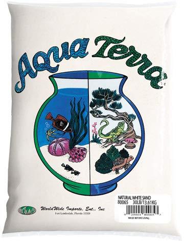 Nature's Ocean Aqua Terra Natural White Sand 5 lb Bag, Natural Aquarium Sand