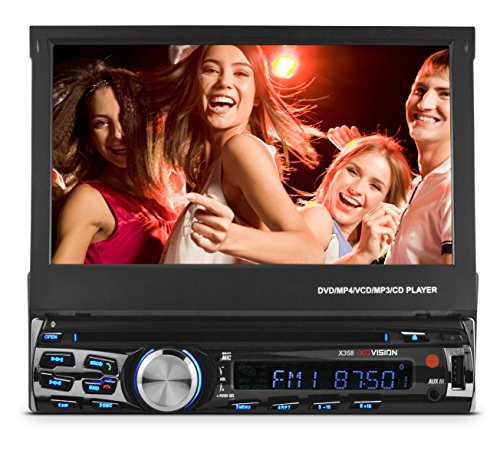 """XO Vision X358 7"""" in-Dash Touch Screen DVD Receiver with Front USB & AV Inputs"""