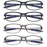Computer Blue Light Blocking Reading Glasses(Flexible and Lightweight) UV Protection Readers Anti Eyestrain for Women Men
