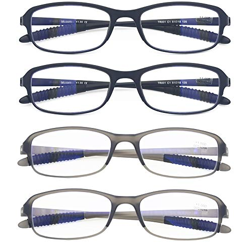 Computer Blue Light Blocking Reading Glasses(Flexible and Lightweight) UV Protection Readers Anti Eyestrain for Women Men