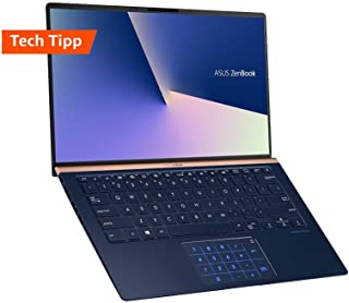 ASUS 华硕 ZenBook 14 UX433FN (90NB0JQ2-M04820) 35.5厘米 (14英寸, FHD, WV) 超极本(英特尔酷睿i7-8565U,16GB 内存,512GB SSD,NVIDIA GeForce MX150 (2GB),Windows 10) 皇家蓝
