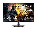 AOPEN 24MV1Y Pbmiipx 23.8' Full HD (1920 x 1080) Gaming Monitor | AMD FreeSync Premium Technology | Up to 165Hz | 1ms TVR | 2 x HDMI Ports & 1 x Display Port, Black