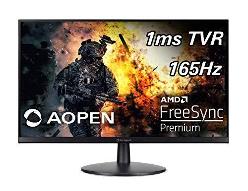 "AOPEN 24MV1Y Pbmiipx 23.8"" Full HD (1920 x 1080) Gaming Monitor | AMD FreeSync Premium Technology | Up to 165Hz | 1ms TVR | 2 x HDMI Ports & 1 x Display Port, Black"