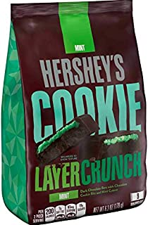 HERSHEY'S COOKIE LAYER CRUNCH Bar, Mint, 6.3 Ounce