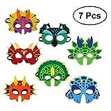 Yeahibaby Máscara de Dinosaurio | Party Decorations for Kids Themed Party Masquerade - Juego de 7