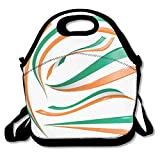 Bolsa térmica Mochila de almuerzo para niños Mochilas de almuerzo con bandera de Irlanda Bolsa de almuerzo Cajas de almuerzo con correa de hombro ajustable