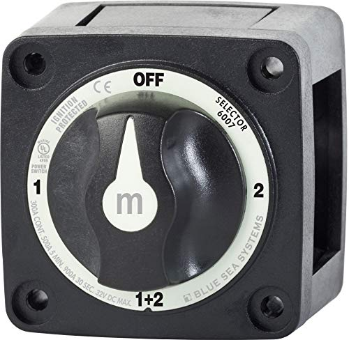 Blue Sea Systems Battery Switch m-Series Selector, Black, 6007200