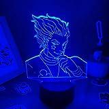 3D noche luz anime Hunter X Hunter lámpara 3D led luces de noche...