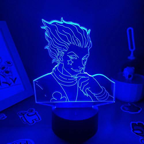 3D noche luz anime Hunter X Hunter lámpara 3D led luces de noche figura regalo creativo amigo dormitorio escritorio decoración zBXQ