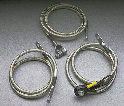 Taylor Cable 20248inoxidable trenzado Diamondback blindado Cable de la batería lado Post 48en. Longitud HD 4Gauge Inoxidable trenzado Diamondback blindado Cable de la batería