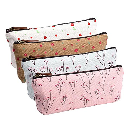 Pilink Pen Pencil Stationery Bag Pouch Box Case - Cute Cat Design and Candy Color