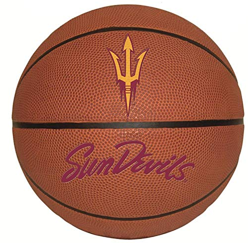 9 Inch ASU Basketball Decal Trident Logo Pitchfork Arizona State University Sun Devils AZ Removable Wall Sticker Art NCAA Home Room Decor 9 by 9 Inches