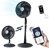 RelaxxNow Ventilador de Pedestal 2en1 Extra silencioso| Smart Tuya App + Amazon Alexa + Go...