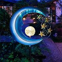 太陽電池式庭のライト - 屋外装飾的なムーンライト - 経路、芝生、パティオ、ヤードのための金属の防水太陽庭の光